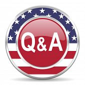 question answer american icon, usa flag