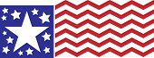 Red white and blue chevron flag