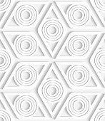 Geometrical Rhombus Seamless Pattern Cut Out