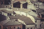 Toledo, imperial city. View from the wall, roof of house