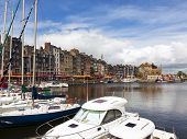 Marina and old town of Honfleur, Basse-Normandie, France