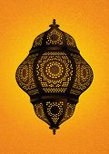 Beautiful Islamic Lamp For Eid / Ramadan Celebrations - Vector Illustration