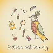 Makeup Cosmetics And Fashion Beautiful Bird