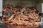 image of ferrous metal  - Copper wires recycling non ferrous material industrial - JPG
