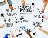 Business People and Creativity Concept