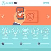 Vector Flat Webpage Template
