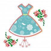 Summer dress (remove clip mask for full flower elements)