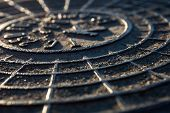 stock photo of manhole  - Close - JPG