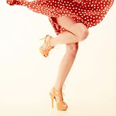 stock photo of pinup girl  - Vintage pinup style - JPG
