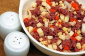 beef mince meat and vegetables