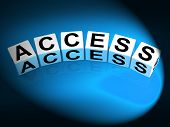 Access Dice Show Admittance Accessibility And Entry
