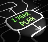 Two Year Plan Arrows Means Program For Next 2 Years