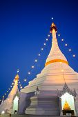Wat Phra That Doi Kong Mu Temple On A Mountain Top In Mae Hong Son City In Northern Thailand.
