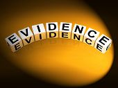 Evidence Dice Represent Evidential Substantiation And Proof