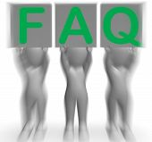 Faq Placards Shows Frequent Assistance And Support