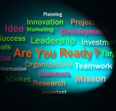 Are You Ready Words Shows Prepared For Business