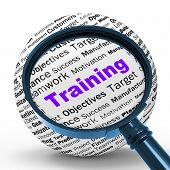 Training Magnifier Definition Shows Instructing Or Education