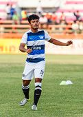 Sisaket Thailand-may 28: Nurul Sriyankem Of Chonburi Fc. In Action During A Training Ahead Thai Prem