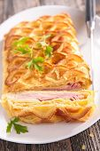 puff pastry with cheese and bacon