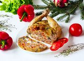 The Chicken Stuffed With Vegetables