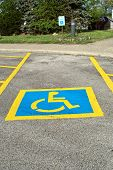 Handicap Parking Lot