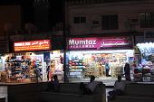 Muscat's shops at Night