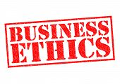 stock photo of ethics  - BUSINESS ETHICS red Rubber Stamp over a white background - JPG
