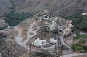 picture of oman  - Balat Sayt Village Oman. View from the top of this little rural village on Oman