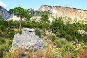 Rock Tombs In Pinara, Turkey
