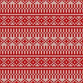 Seamless Knitting Pattern. Wool Sweater Design
