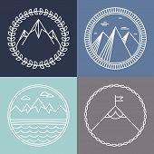 Vector Mountain Logos