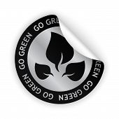 Vector Go Green Bent Sticker