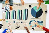 stock photo of market segmentation  - People Business Market Analysis Concept - JPG