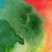 Aquarelle Abstract Watercolor Background. Colorful Handmade Technique Aquarelle.