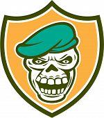 Skull Beret Shield Retro