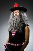 foto of hirsutes  - Funny pirate with long beard - JPG