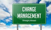 Change Management on Highway Signpost.