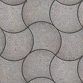Grey Wavy Pavers. Seamless Texture.