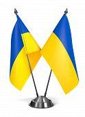 Ukraine - Miniature Flags.