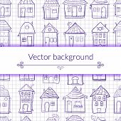 Vector illustration outine houses
