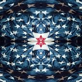 abstract fabric background made of american flag