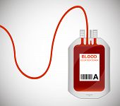 Blood Bag Isolated On White