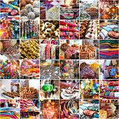 picture of shisha  - collage photo merchandise in the Arab market - JPG