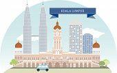 picture of kuala lumpur skyline  - Kuala Lumpur - JPG