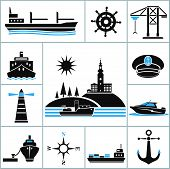 picture of fleet  - Set of vector icons on  - JPG