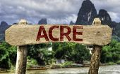 Acre (Brazilian State) sign with a forest background