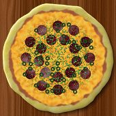 Pizza Generated Texture Background