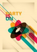 Party poster design in color. Vector illustration.