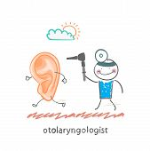 otolaryngologist  catching sore ear