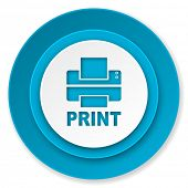printer icon, print sign